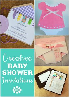 Lots of ideas for Creative Baby Shower Invitations