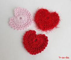 Free Pattern Crochet Hearts  P-an-da: Олимпийскими бывают не только кольца :) Россия, вперёд!!!