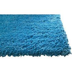 """KAS Rugs Bliss Highlighter Blue Area Rug Rug Size: 7'6"""" x 9'6"""""""