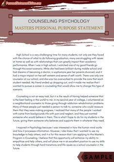 Counseling psychology admissions essay
