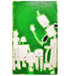 """Green"" Original Art – FleaPop – Buy and sell home decor, furniture and antiques"
