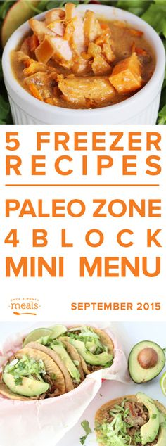 This Paleo Zone 4 Block Mini Menu aims to equip you for success! With meals like Chinese spiced stir fry and tomatoey unstuffed cabbage rolls tucked away in your freezer, you'll be prepared when hunger strikes.