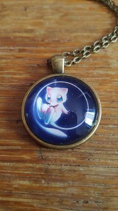 Mew Necklace by AwesomeOddities on Etsy