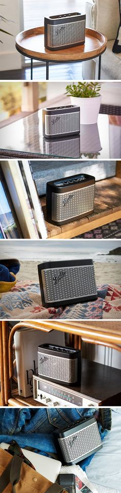 The Fender Newport, classic and chic, comes with a triple driver system comprising two woofers and one tweeter, and a 3.5mm input at the back. The speaker is styled as an amplifier too, with a metal grill on the front and knobs/controls (for controlling the volume, bass, and treble) on the top with the classic analog style toggle switch (for on/off) found on most amplifiers and guitars even today. BUY NOW!