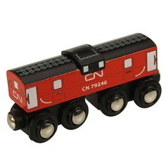 Wagon Kombuis CN BigJigs BJT445. Een mooie uitbreiding voor het houten treinennetwerk van BigJigs. Deze rode kombuis is voorzien van 4 assen en is geschikt voor kinderen vanaf 3 jaar. - BigJigs houten Wagon CN Kombuis