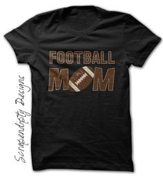 Scrapendipity Designs » Football Mom Shirt – Womens Football Tshirt / Pee Wee Football Clothing / Kids Football Sports Shirt