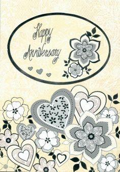 Handmade Foiled Anniversary Card
