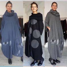 Beautiful-Zedd-Plus-Taille-3-Lagenlook-Stylish-Long-Dress-w-scarf-orig-295