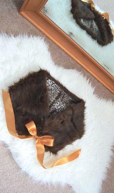 DIY faux fur shrug