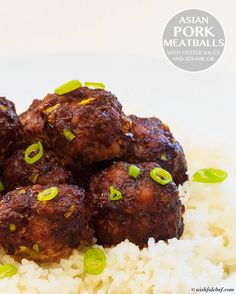Asian Pork Meatballs with Oyster Sauce and Sesame Oil // wishfulchef.com