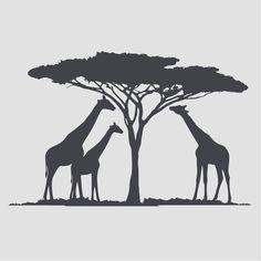 Afrika, Giraffen Wandtattoo Wandaufkleber