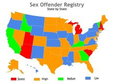 Sex register laws by state