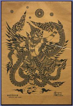 Garuda and nagas