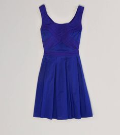 AE Eyelet Flare Dress....so pretty! Love the color and the detail