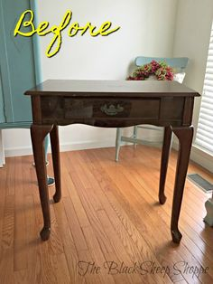 Cheap make-up table found at a local thrift store. Laminate Furniture, Metal Furniture, Upcycled Furniture, Home Decor Furniture, Cheap Furniture, Furniture Makeover, Painted Furniture, Furniture Movers, Furniture Logo