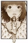 Mark Crilley.com  manga: full body figure of a girl set on a close up of her face, this shows the emotion felt by the character, that of loneliness.