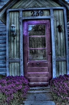 This doorway looks like the colors of the sky just after sunset.  So peaceful .