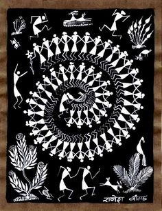Warli Art - traditionally done on walls... but perfect for almost anywhere and easy to recreate too!