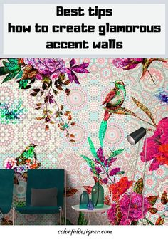 If you want to give your room a little glamour, add an accent wall. There are so many options to make a room prettier with wallpaper. It is easy to do, doesn't create a mess and you are done in an hour.