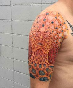 Alex Grey tattoo by Andrew Matela Alex Grey Tattoo, Dark Art Tattoo, Hot Tattoos, Body Art Tattoos, Sleeve Tattoos, Tatoos, Alex Gray Art, Grey Art, Tattoos For Guys Badass
