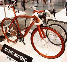 ... check out this amazing all wooden okay almost all wooden bicycle