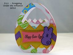 @ajillianvancedesign Peepster stamp set and @SVGCuts cut file  Made these darling Easter baskets a year ago for my grandchildren!