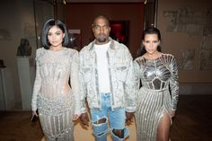 Pin for Later: The 69 Met Gala Moments You Need to See  Pictured: Kim Kardashian, Kanye West, and Kylie Jenner