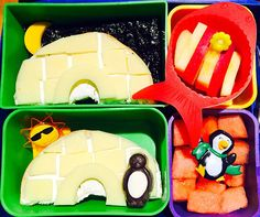 Winter Igloo Bento with Snacks