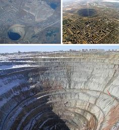 World's biggest hole in the Earth is a giant man-made diamond mine.