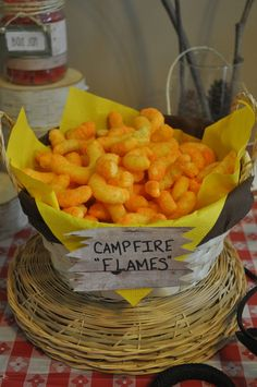 "use cheetos, Photo 21 of Camping / Birthday ""Camp Sorbello"" Bonfire Birthday Party, Lumberjack Birthday Party, Birthday Fun, Birthday Party Themes, Birthday Ideas, Outdoor Birthday, Pirate Party, Park Birthday, Aniversario Star Wars"