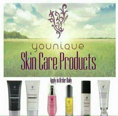 We have a skincare line too!! Visit my site to check it out!  www.youniqueproducts.com/VannessaSturm  Facebook: Younique by Vannessa Sturm