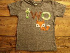 Fox shirt woodland themed birthday shirt toddler tee forest animal on Etsy, $36.00