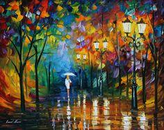 "Leonid Afremov - ""Late Stroll"""
