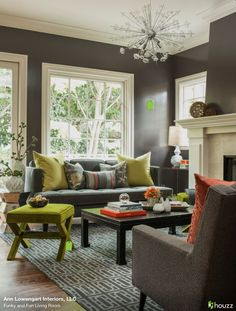 High Quality Green And Gray #Livingroomideas