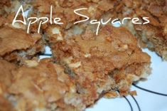 apple squares #recipe