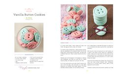 Vanilla Button Cookies Recipe, just adorable!