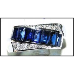 __undefined__ Natural Gemstone White Gold Blue Sapphire Diamond by BKGjewels Sapphire Pendant, Blue Sapphire Rings, Sapphire Earrings, Sapphire Diamond, Ruby Rings, Fine Jewelry, Unique Jewelry, Ring Displays, White Gold Diamonds
