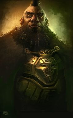 Dwarven Warrior by Rob-Joseph armor clothes clothing fashion player character npc | Create your own roleplaying game material w/ RPG Bard: www.rpgbard.com | Writing inspiration for Dungeons and Dragons DND D&D Pathfinder PFRPG Warhammer 40k Star Wars Shadowrun Call of Cthulhu Lord of the Rings LoTR + d20 fantasy science fiction scifi horror design | Not Trusty Sword art: click artwork for source