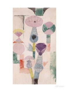 オールポスターズの パウル・クレー「Thistle Bloom」ジクレープリント