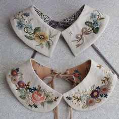 """168 Likes, 28 Comments - Fabric Jewelry Artist (@ceci_leibovitz) on Instagram: """"The most beautiful #embroidered collars by Rairai. @rairai_ws"""""""