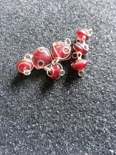 Red glass wire beads #newjewlz #hempjewlz #hemp #jewelry #glass #wire #beads
