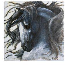 The Art of Lobelia Barker - Horse oil painting.