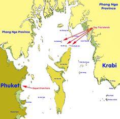 Map: Koh Yao Yai- Yao Noi