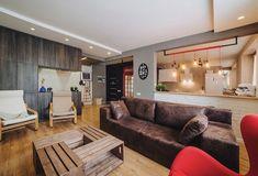 Fiatal párnak berendezett 70m2-es lakás loft hangulattal, érdekes részletekkel