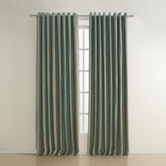 Stripe Polyester Jacquard Energy Saving Curtains (two Panels) Curtains And Draperies, Beige Curtains, Striped Curtains, Green Curtains, Blackout Curtains, Drapery, Home Reno, Cool Gadgets, Save Energy