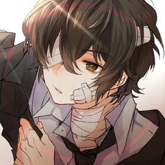 Dazai Bungou Stray Dogs, Stray Dogs Anime, Dark Anime Guys, Cute Anime Guys, Manga Anime, Anime Art, Dazai Osamu, Cute Anime Character, Anime Angel