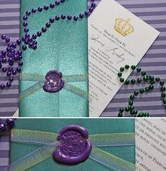 "Royal invitation using ""faux wax"" and a glue gun! So elegant and easy!"