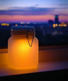 Solar powered sun jar designed by Suck UK // charges during the day, lights up during the night