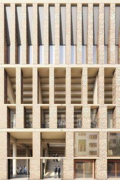 29 Ideas exterior architecture facade inspiration for 2019 Building Exterior, Building Facade, Building Design, Brick Architecture, Contemporary Architecture, Architecture Details, Stone Facade, Brick Facade, Facade Design
