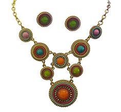 Fashion Costume Jewelry Multi Color Beaded Disc Necklace Earring Set LaRaso & Co http://www.amazon.com/dp/B00STUB07A/ref=cm_sw_r_pi_dp_urF9ub0HKYQRM